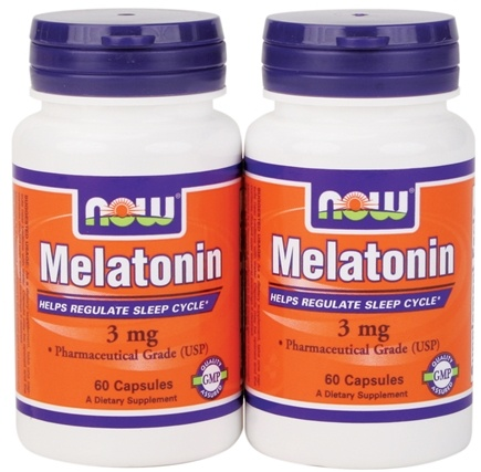 DROPPED: NOW Foods - Melatonin (60+60) Twin Pack Special 3 mg. - 120 Capsules