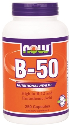 DROPPED: NOW Foods - B50 with Vitamin C 250 mg. - 250 Capsules