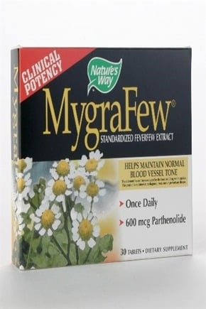 DROPPED: Nature's Way - Mygrafew (Feverfew) - 30 Tablets