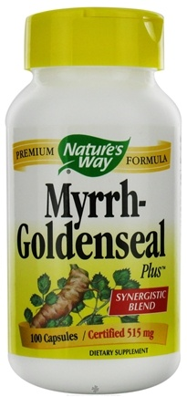 DROPPED: Nature's Way - Myrrh-Goldenseal Plus 515 mg. - 100 Capsules