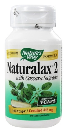 Nature's Way - Naturalax 2 445 mg. - 100 Vegetarian Capsules