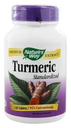 Nature's Way - Turmeric Standardized Extract - 120 Tablets
