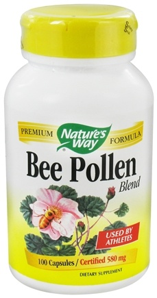 DROPPED: Nature's Way - Bee Pollen 580 mg. - 100 Capsules