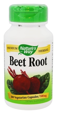 Nature's Way - Beet Root 500 mg. - 100 Vegetarian Capsules