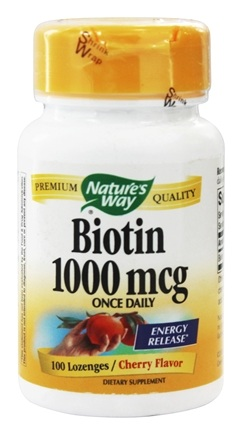 Nature's Way - Biotin 1000 mcg. - 100 Lozenges