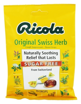Ricola - Natural Herb Throat Drops Sugar Free - 19 Lozenges