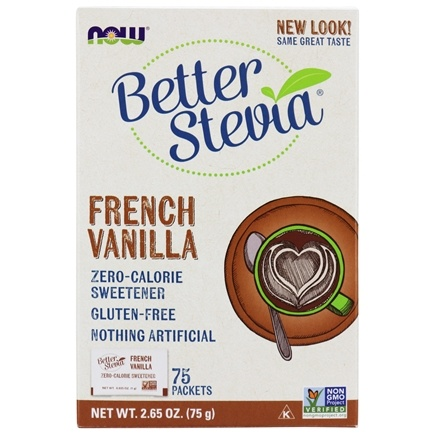 DROPPED: NOW Foods - Better Stevia Zero Calorie Sweetener French Vanilla Flavor - 75 Packet(s)