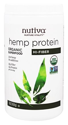 Nutiva - Organic Superfood Hemp Protein Hi-Fiber - 16 oz.