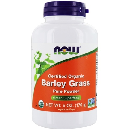 NOW Foods - Barley Grass Powder Organic, Non-GE - 6 oz.