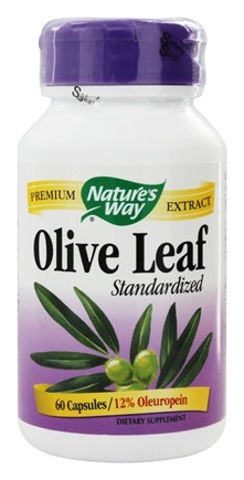 Nature's Way - Olive Leaf Standardized Extract - 60 Capsules