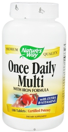 Zoom View - Once Daily Multivitamin- with iron formula