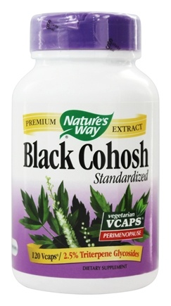 Nature's Way - Black Cohosh Standardized Extract - 120 Vegetarian Capsules