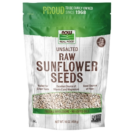 NOW Foods - Sunflower Seeds, Raw, Hulled, Unsalted - 1 lb.