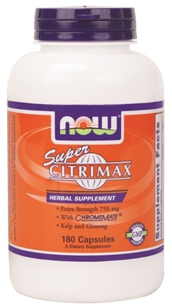 DROPPED: NOW Foods - Super Citrimax - Extra Strength 750 mg. - 180 Capsules