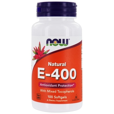 DROPPED: NOW Foods - Vitamin E Mixed Tocopherols 400 IU - 100 Softgels CLEARANCE PRICED