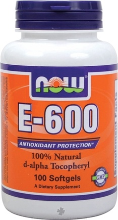 DROPPED: NOW Foods - Vitamin E 600 IU - 100 Softgels