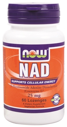 DROPPED: NOW Foods - NAD 25 mg. - 60 Lozenges