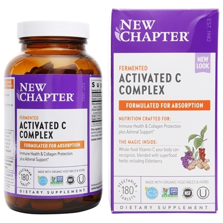 New Chapter - Activated C Food Complex - 180 Tablets