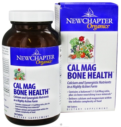 DROPPED: New Chapter - Cal Mag Bone Health - 180 Tablets