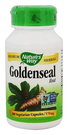 Nature's Way - Goldenseal Root 570 mg. - 100 Vegetarian Capsules