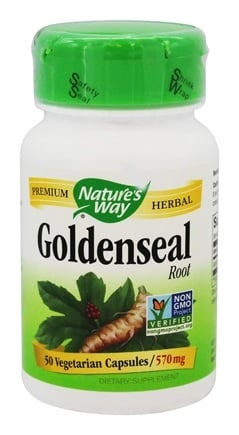 Nature's Way - Goldenseal Root 570 mg. - 50 Vegetarian Capsules