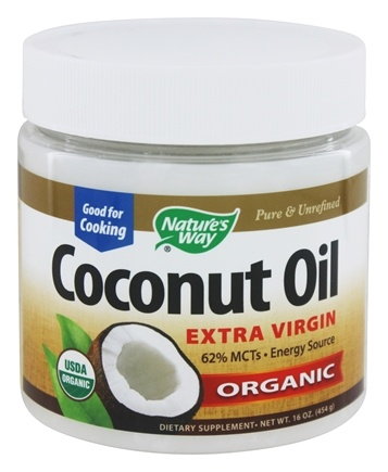 Nature's Way - Organic Pure Extra Virgin Coconut Oil - 16 oz.