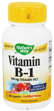 DROPPED: Nature's Way - Vitamin B1 100 mg. - 100 Capsules CLEARANCED PRICED