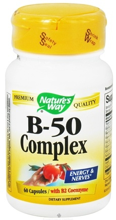 DROPPED: Nature's Way - Vitamin B50 Complex with B2 Coenzyme - 60 Capsules CLEARANCE PRICED