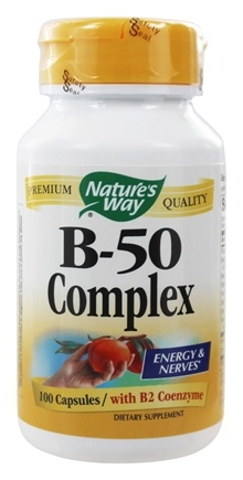 Nature's Way - Vitamin B-50 Complex with B2 Coenzyme - 100 Capsules