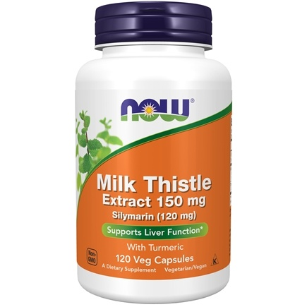 NOW Foods - Silymarin Milk Thistle Extract 150 mg. - 120 Vegetarian Capsules