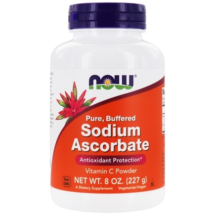 DROPPED: NOW Foods - 100% Pure Buffered Sodium Ascorbate - 8 oz.