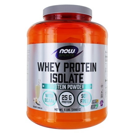 NOW Foods - Whey Protein Isolate Vanilla - 5 lbs.