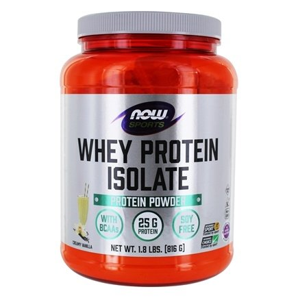 NOW Foods - Whey Protein Isolate Vanilla - 1.8 lbs.