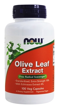 NOW Foods - Olive Leaf Extract with Echinacea Vegetarian 500 mg. - 100 Vegetarian Capsules