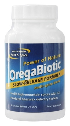North American Herb & Spice - OregaBiotic - 60 Vegetarian Capsules