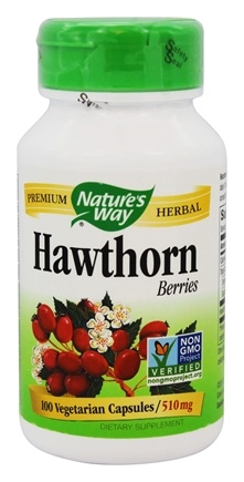 Nature's Way - Hawthorn Berries 510 mg. - 100 Vegetarian Capsules