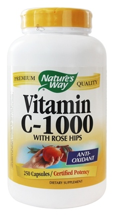 DROPPED: Nature's Way - Vitamin C1000 with Rose Hips - 250 Capsules