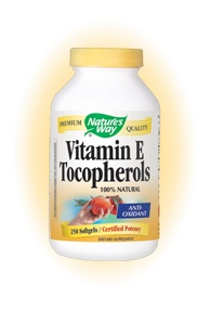 DROPPED: Nature's Way - Vitamin E Tocopherols - 250 Softgels