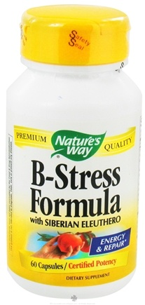 DROPPED: Nature's Way - B-Stress Formula with Siberian Eleuthero - 60 Capsules