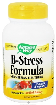 DROPPED: Nature's Way - B-Stress with Siberian Eleuthero Ginseng - 100 Capsules