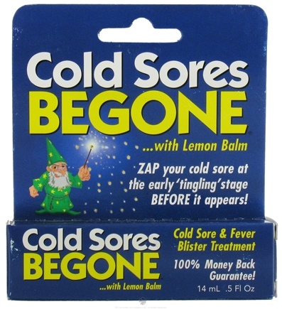 DROPPED: Robin Barr Ent. - Cold Sores Begone with Lemon Balm - 0.5 oz.