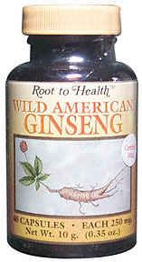 DROPPED: Hsu's Ginseng Enterprises - Root To Health Wild American Ginseng 250 mg. - 80 Capsules