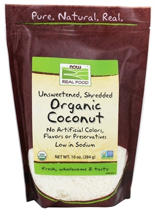 NOW Foods - Organic Coconut Unsweetened - 10 oz.