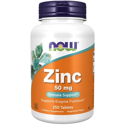 NOW Foods - Zinc 50 mg. - 250 Tablets