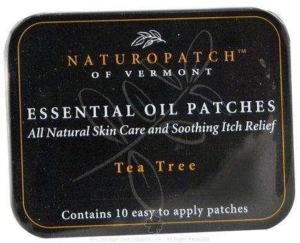 Natural Patches of Vermont - Soothing Itch and Skin Irritation Formula Essential Oil Body Patches Tea Tree - 10 Patch(es) Formerly Naturopatch