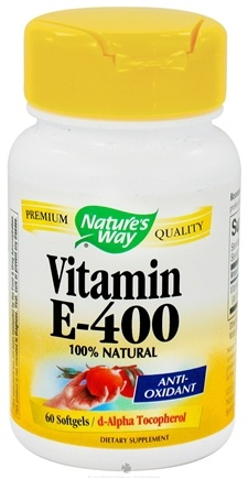 DROPPED: Nature's Way - Vitamin E400 - 60 Softgels CLEARANCE PRICED