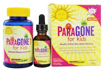 Zoom View - ParaGONE for Kids I and II 2 Part Internal Cleansing System
