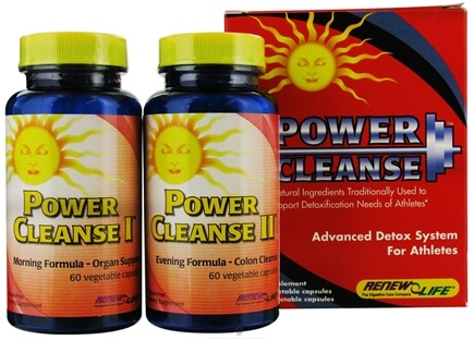 DROPPED: ReNew Life - Power Cleanse Kit Advanced Detox Kit for Athletes - CLEARANCE PRICED