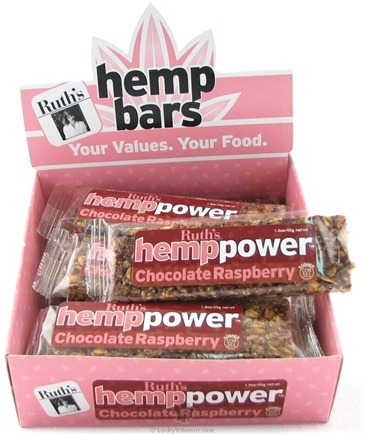 DROPPED: Ruth's Hemp Foods - Hemp Power Bar Chocolate Raspberry Flavor - 1.5 oz.