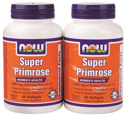 DROPPED: NOW Foods - Super Primrose (60+60) Twin Pack Special 1300 mg. - 120 Softgels